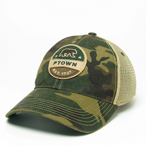 PIN BACK BEAR CAMO HAT