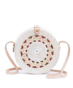 Ratan Bag (Medium) - White Braid