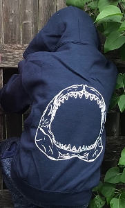 SHARK JAWS KIDS ZIP HOOD