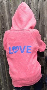 CAPE LOVE KIDS ZIP HOOD